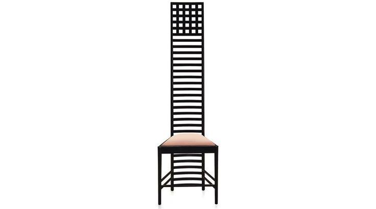 #Sedia #Hill_House_Chair del designer, architetto e pittore scozzese #Charles_Rennie_Mackintosh.  Disegnata nel 1903 appositamente per la #camera da letto della casa di un editore, è un pezzo di #arredamento ancora attuale, prodotto da #Cassina