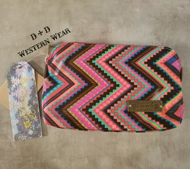 NEW ARRIVAL  Catchfly Cosmetic Aztec Bag  Order at www.danddwesternwear.com