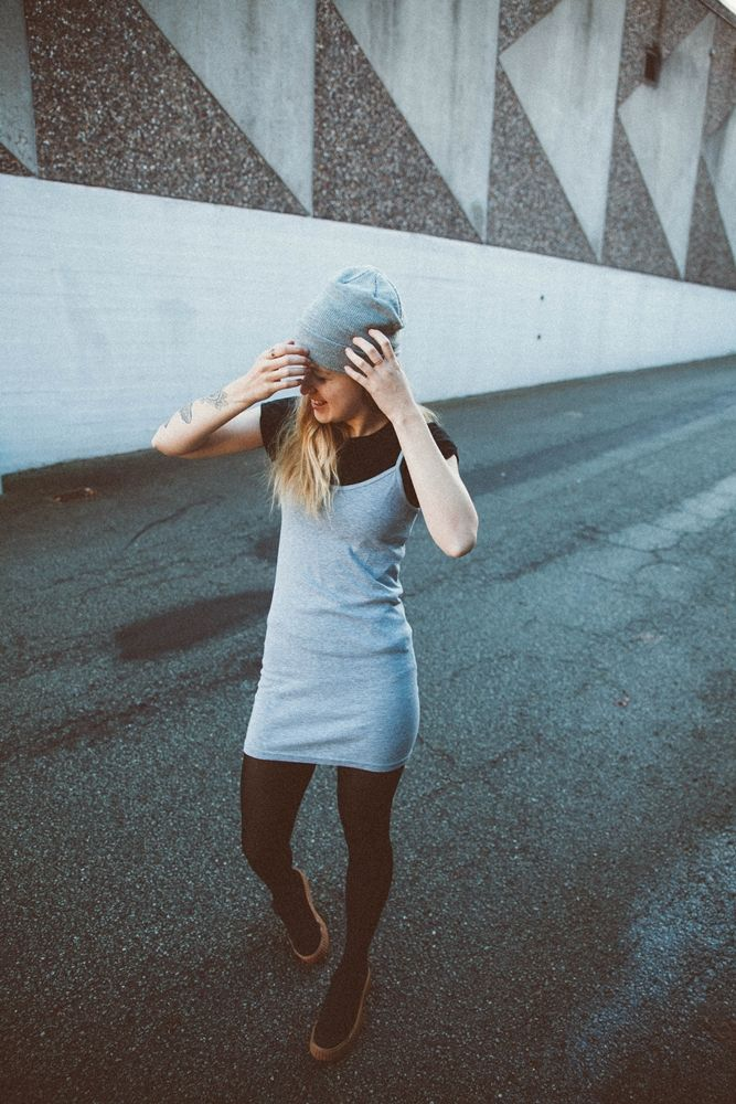 #theslipdress #slipdress #slip #dress #sneakers #beanie #tattoos #tattoo #haircolor #hairstyle #haircut