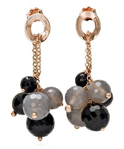 Orecchini collezione tu! donna realizzati in argento con agata nera e grigia http://www.argentoro.it/it/tu-donna/orecchini