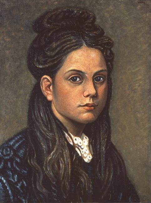 Chatzikiraikos Gkikas (1906-1994) Portrait of a girl, ca. 1935-1940 Χατζηκυριάκος-Γκίκας Νίκος (1906 - 1994) Προσωπογραφία κοριτσιού, π. 1935 - 1940