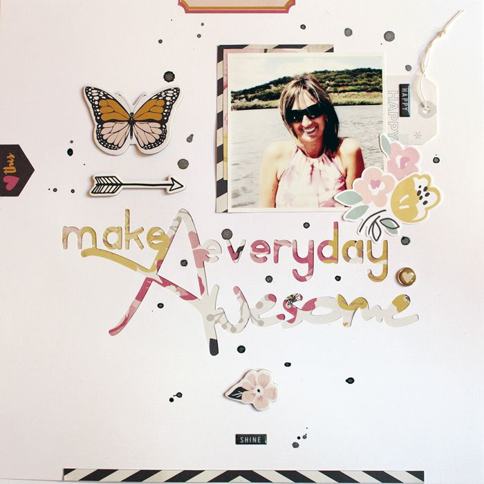 Make everyday awesome  #scrapbooking # scrapbook #papercraft #thecutshope #mymindseye #cratepaper #maggiehdesign