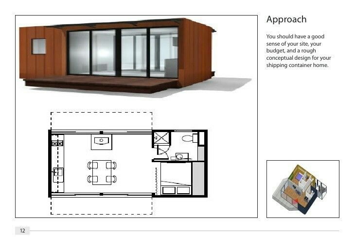 Shipping Container House Technical Plans - Download   Cargo Home DWG ...