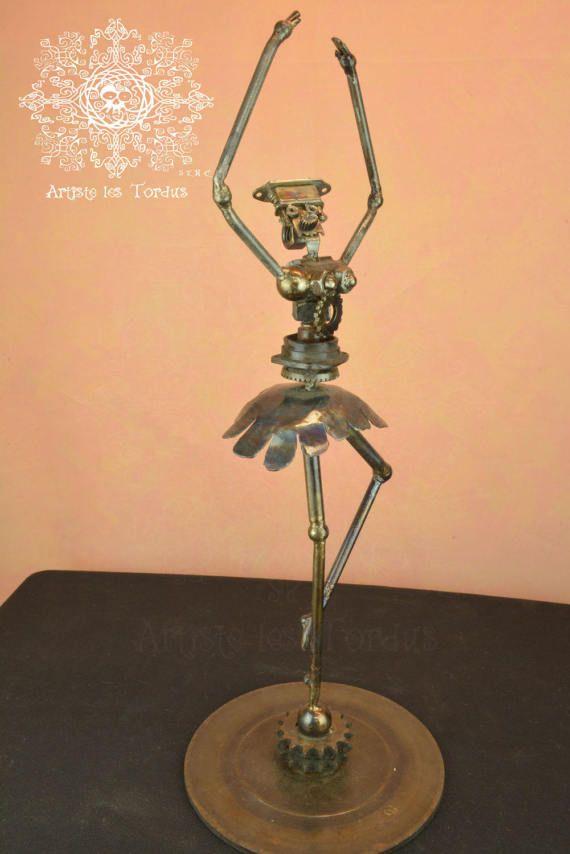 Metal welded sculpture Catherina The Great ballerina