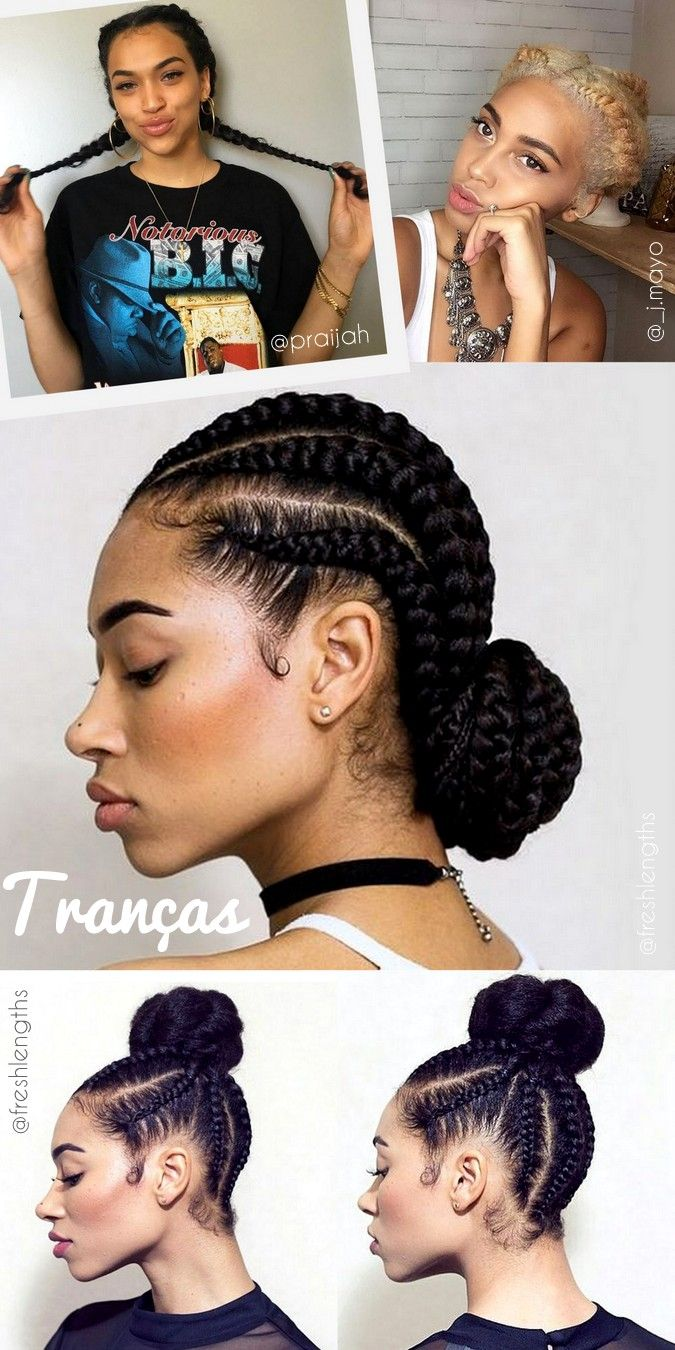 Penteados para cabelos cacheados dia a dia, escola, faculdade, com coques e tranças - curly hairstyles day by day braid end knot top - ohlollas   - cabelos naturais ondulados cacheados crespos com fotos reais do instagram. Penteados para madrinhas de casamento, para formatura e festas.