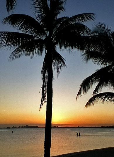 Sunset: Biscayne Bay Miami