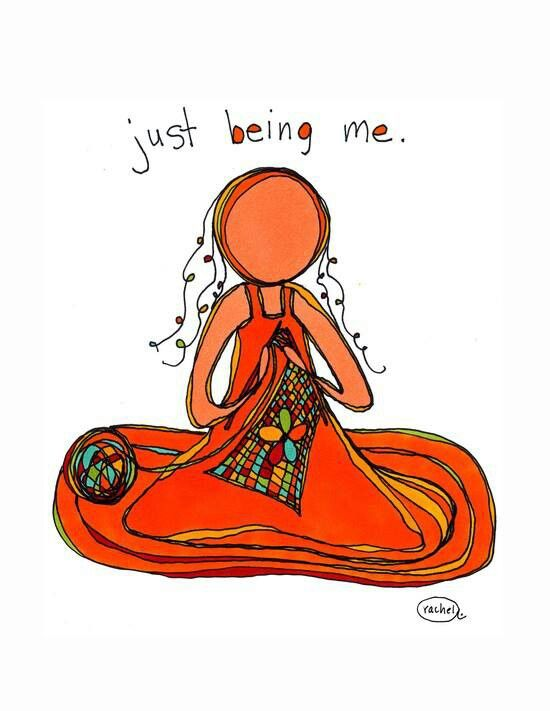 Just being me. print by rachel awes