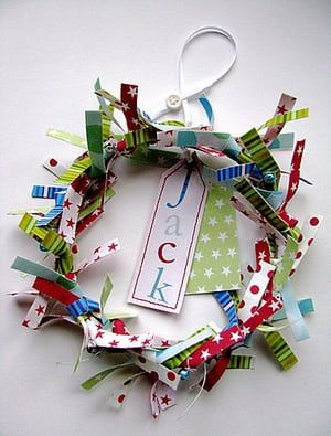 Christmas wreaths: Personalised children's wreath