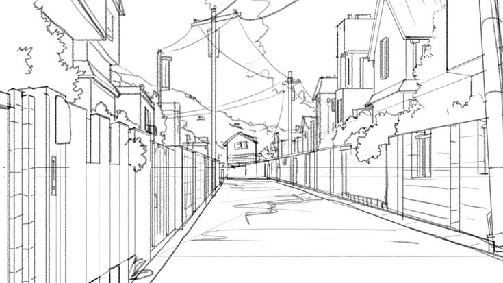 Orianart drawing backgrounds follow your heart in - Sketch anime wallpaper ...