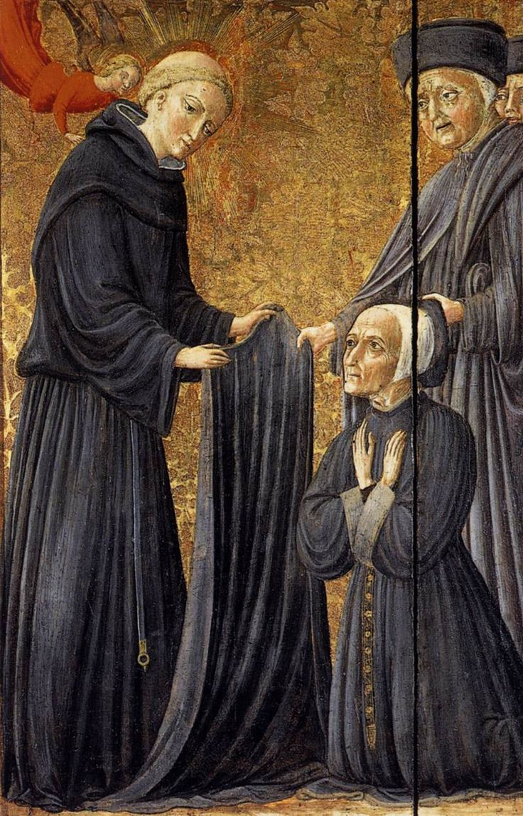VECCHIETTA. The Blessed Agostino Novello Assigning the Habit of the Hospital to the Rector 1445 Tempera on panel Pinacoteca Nazionale, Siena.