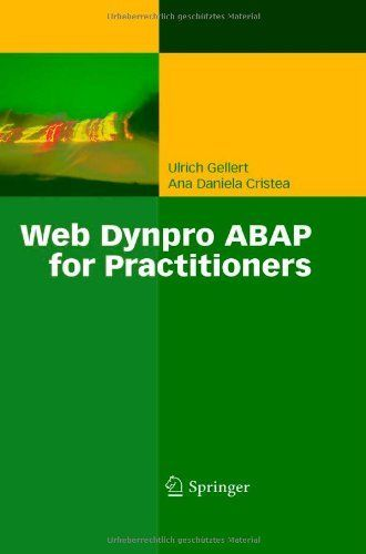 Web Dynpro ABAP for Practitioners by Ulrich Gellert. $69.95. Edition - 2010. 372 pages. Publisher: Springer; 2010 edition (September 10, 2010). Publication: September 10, 2010