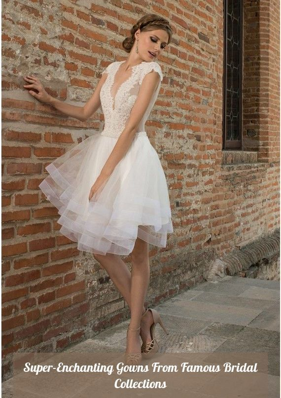 Rarr Wedding Dresses 2019 Designs Short Wedding Dresses Collections 20 Click To See Mor Knee Length Wedding Dress Wedding Dress Crafts Short Wedding Dress