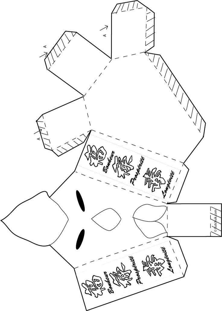 vignette boite coq à fabriquer pour le nouvel an chinois