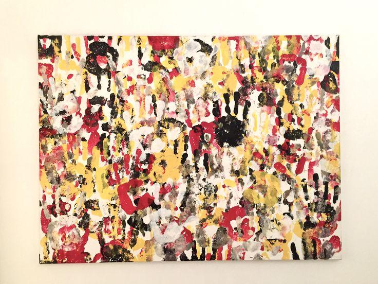 baby marcelo- popoli della terra- acrylic on canvas