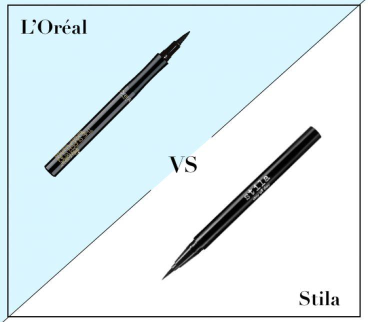 L'Oréal Infallible The Super Slim Liquid Eyeliner ($8.99) vs. Stila Waterproof Eyeliner ($20)
