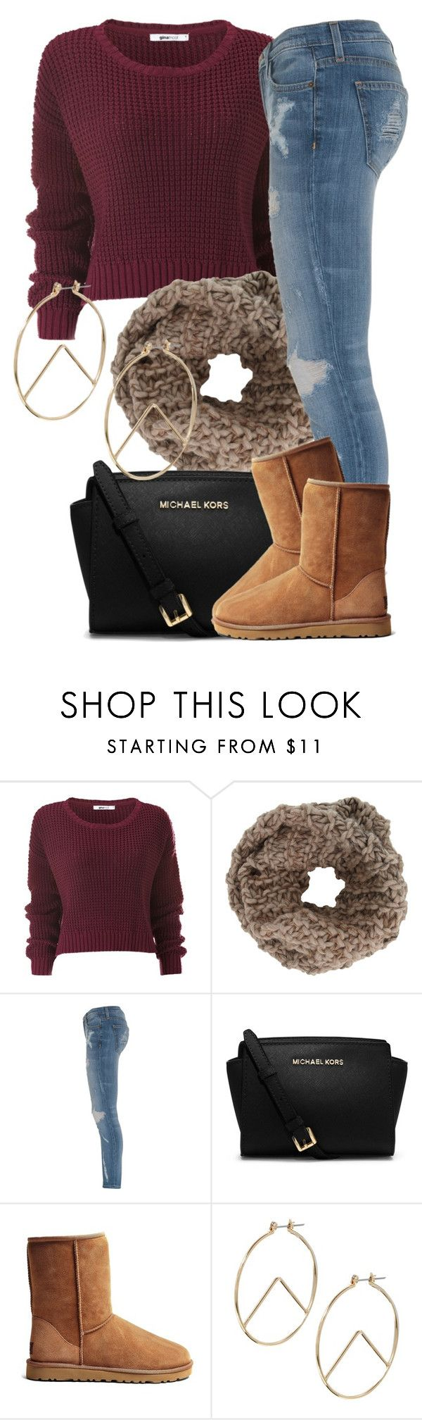Fall Set - 08/26/14 by nasirkami ❤ liked on Polyvore featuring Anna Kula, Current/Elliott, Michael Kors, UGG Australia and ASOS