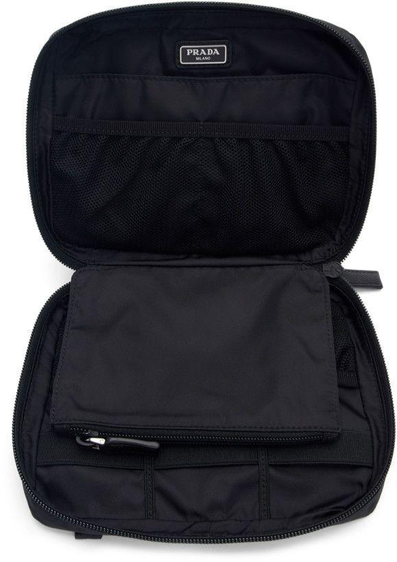 62cdee8f95f1 Prada - Black Nylon Logo Pouch