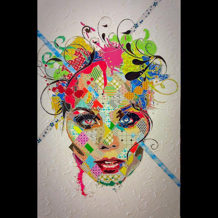 "Pınar Du Pre ""Laura"" 180x120cm/mixed media on canvas/2015"