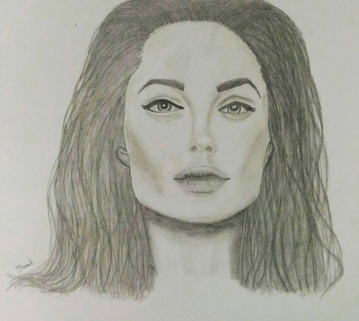 """41 Likes, 4 Comments - Dedicated to sketching 🇮🇳 (@creativitytrance) on Instagram: """"Yayyy!! Finally, my first attempt at portrait ☺ Am so happy 😀 One of my favourite people Angelina…"""""""