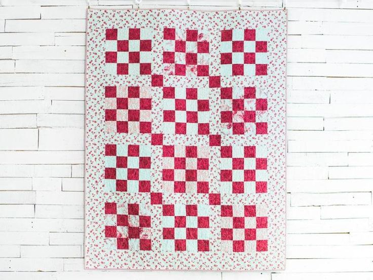 Stepping Stones Mint Quilt Kit | 16 patch quilt, Patch ... Stepping Stones