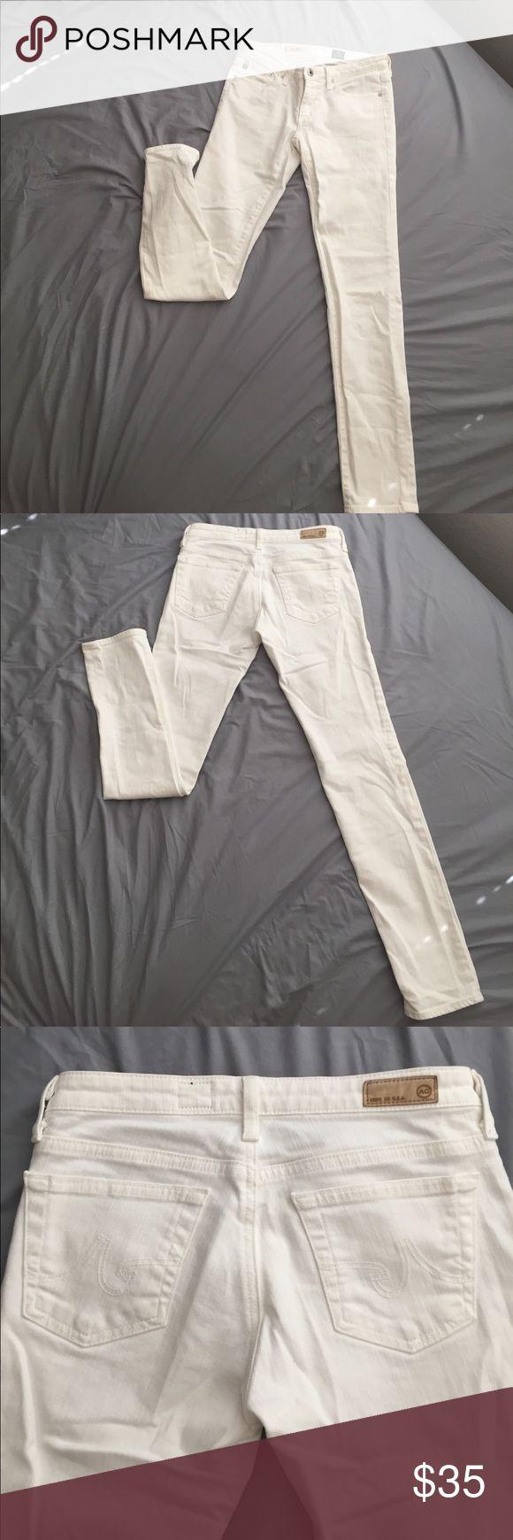 AG the Stilt Cigarette Jeans - White Skinny cigarette AG Denim made in the USA Ag Adriano Goldschmied Jeans Skinny