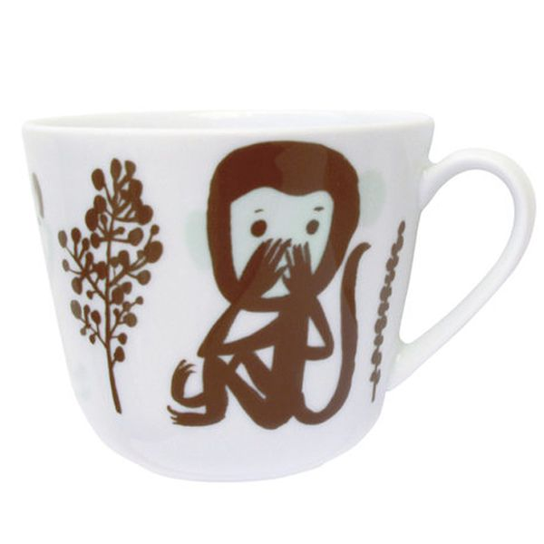 Kauniste's Monkey mug, brown