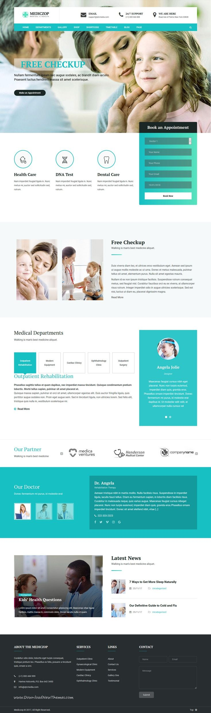 Mediczop is clean and modern deisgn 4in1 responsive WordPress theme for #medical, plastic #surgery or #dental clinics #website to live preview & download click on Visit