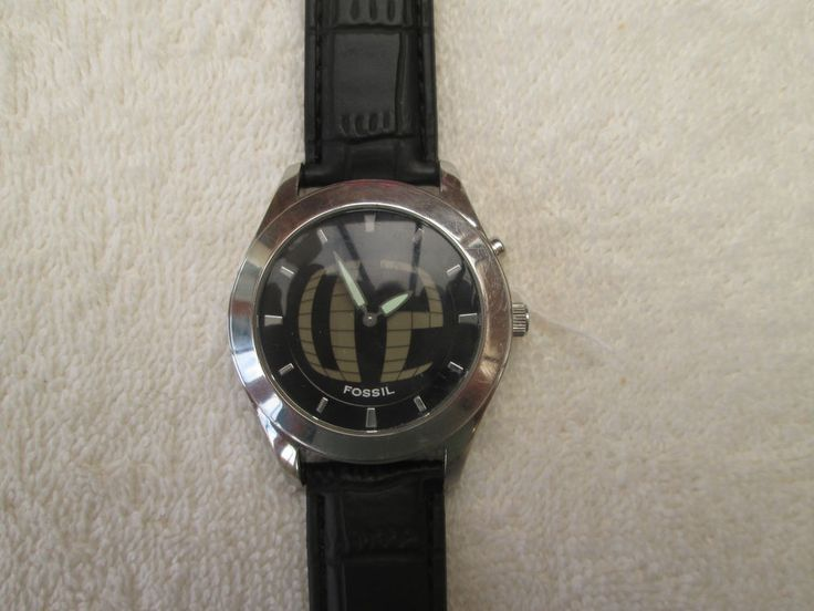 MENS FOSSIL BIG TIC JR8122 STAINLESS STEEL WATCH WITH NEW LEATHER STRAP #Fossil