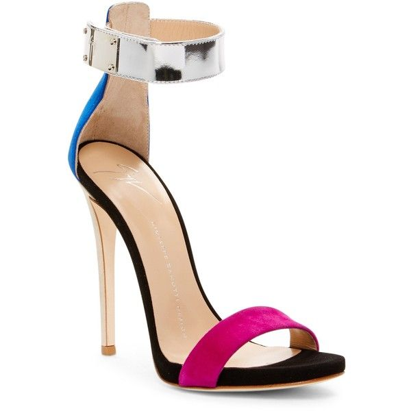 GIUSEPPE ZANOTTI Alien Sandal ($600) ❤ liked on Polyvore featuring shoes, sandals, multicolor, velcro shoes, colorful shoes, giuseppe zanotti sandals, multi colored shoes and multi coloured sandals