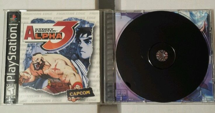 RETRO PS1 Street Fighter Alpha 3 Capcom Art Manual 1999 CIB Fighters Edge 2 Play #StreetFighter