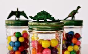 Dinosaur Treat Jar Kids Birthday Party Favors