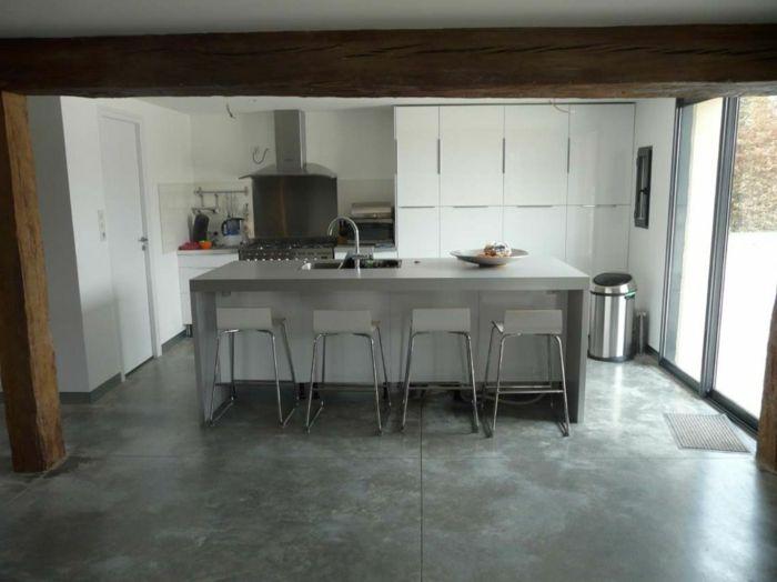 10 best Plancher images on Pinterest Concrete floors, Living room - maison en beton banche