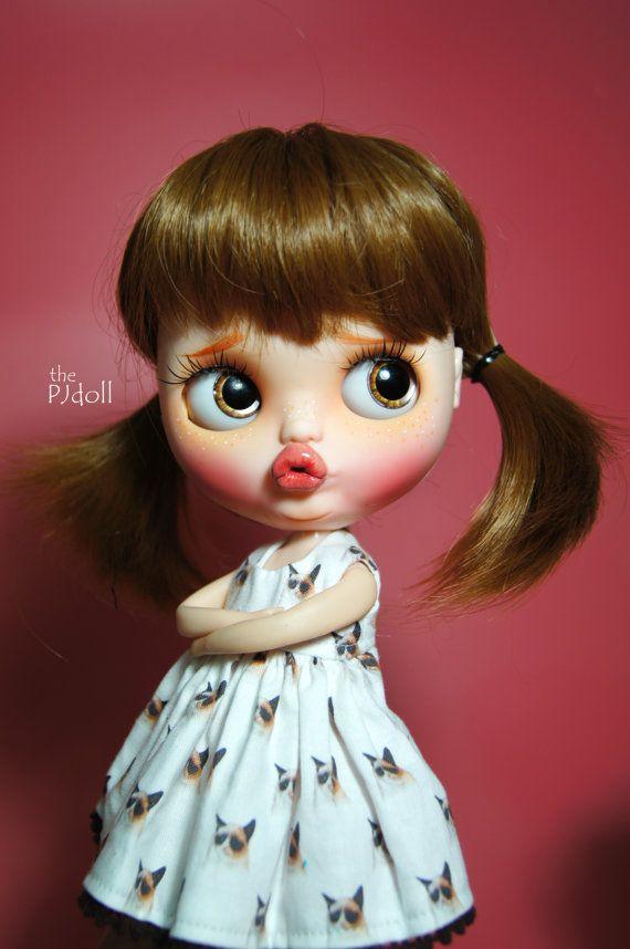 thePJdoll Grumpy Girl Custom Blythe Doll/Grumpy por ThePJdoll