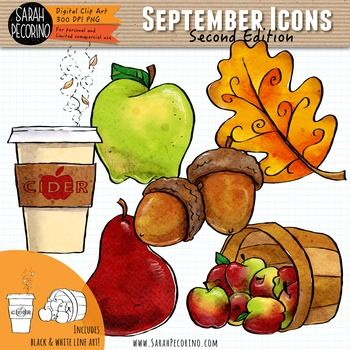 September Clip Art {Second Edition}