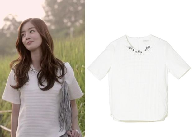 "Han Sun-Hwa in ""Marriage, Not Dating"" Episode 6.  8ight Seconds Embossed Top #Kdrama #MarriageNotDating #연애말고결혼 #HanSunHwa #한선화"