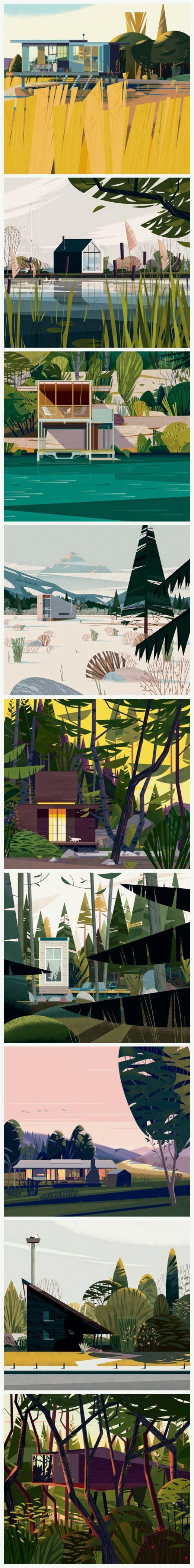 Cabins by Marie-Laure Cruschi aka Cruschiform