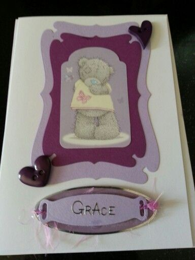 Simple card using Tatty Ted and dies