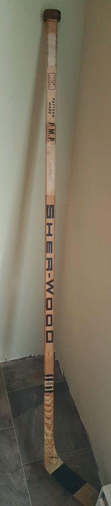 Rare 1975 nhl Flyers Semi Final Stanley Cup Game Used Stick Signed Ed Van Impe