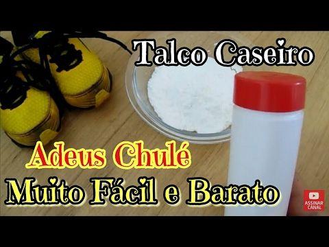 TALCO CASEIRO INCRIVEL, ADEUS CHULÉ!!!! COM 3 INGREDIENTES