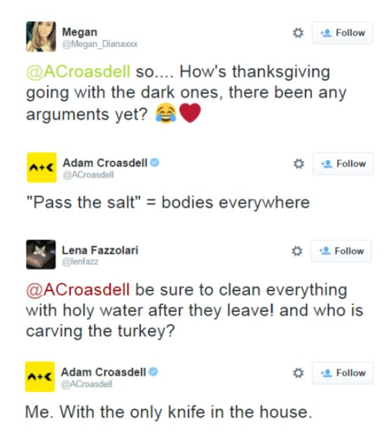 Papa Jones (Adam Croasdell) on Thanksgiving day