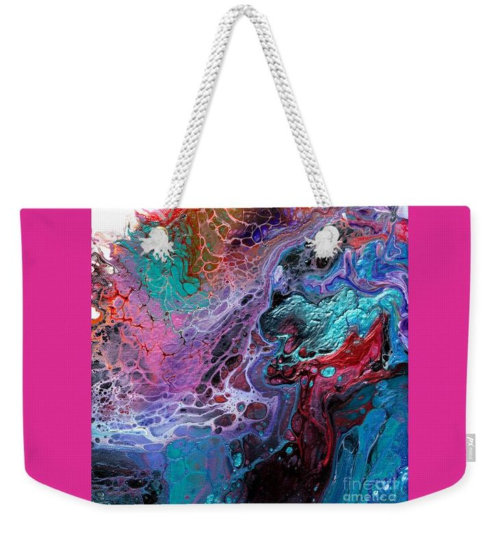 "#933 Dragons Clash Weekender Tote Bag (24"" x 16"") by Expressionistart studio Priscilla Batzell.  The tote bag is machine washable and includes cotton rope handle for easy carrying on your shoulder.  All totes are available for worldwide shipping and include a money-back guarantee."