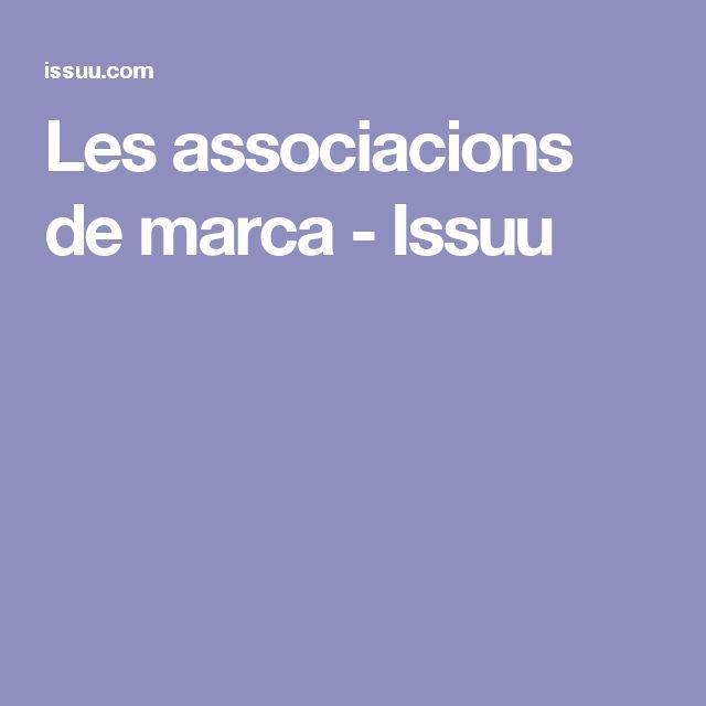 Les associacions de marca - Issuu