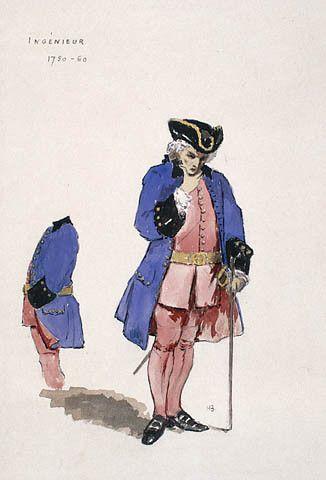 Ingénieur 1750-1760. #newfrance #historicalfashion #bourgeious