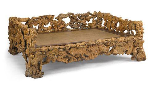 Мебель из коряг своими руками, кровать из бревен — Своими руками