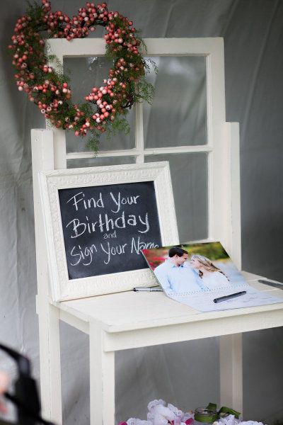 Wedding guestbook idea: Calendar - Crestmore Manor Wedding from The Youngrens  @Emma Zangs Zangs Zangs Drummond Filkins THIS is so cute and Walmart makes these calendars really inexpensively!