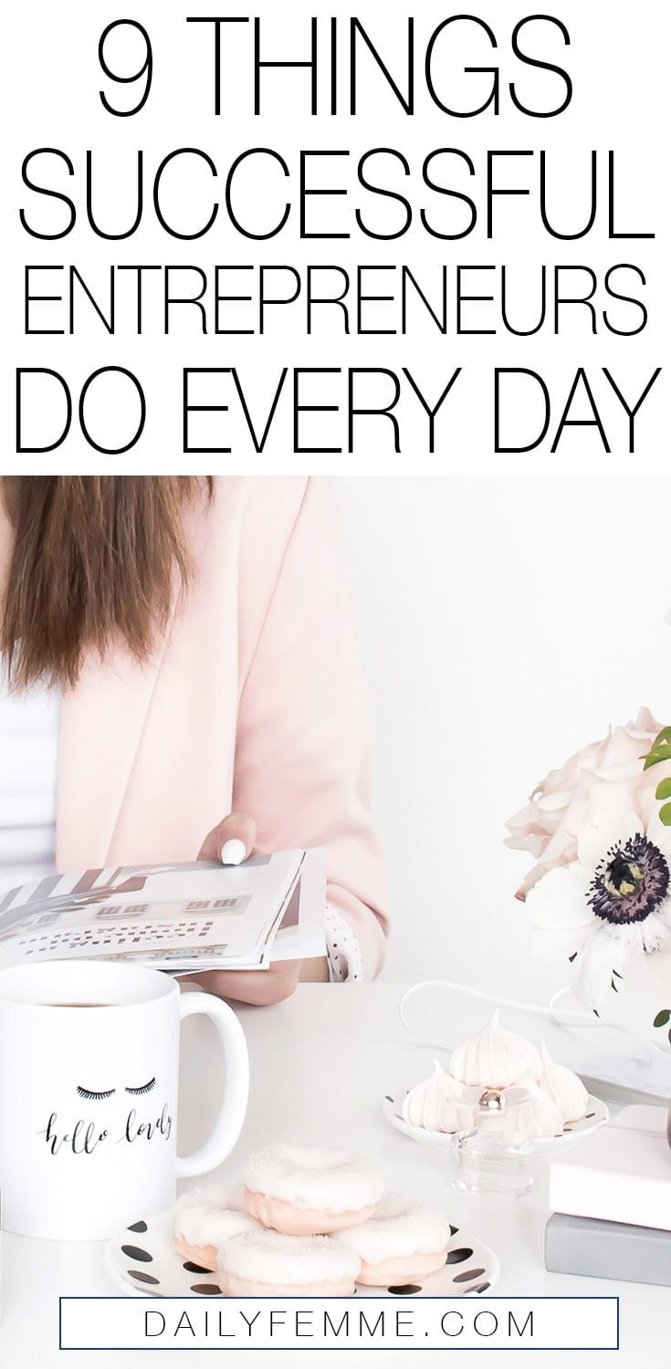 Successful entrepreneurs have a lot in common, there's things these entrepreneurs do every day that set the apart from the rest and ensure they are ahead in their business venture. Here's a roundup of the main things I found successful entrepreneurs do each day - how many of them do you do?