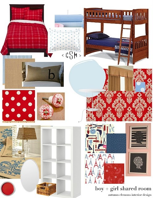 boys and girls room from @Autumn Clemons