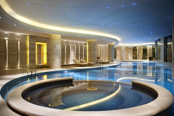 HBA Design's circular thinking for the spa at Hilton Hangzhou Qiandao Lake Resort, Chun'an, China. WATG served as the architect. Photo: Courtesy of Hilton Hotels & ResortsBack to story