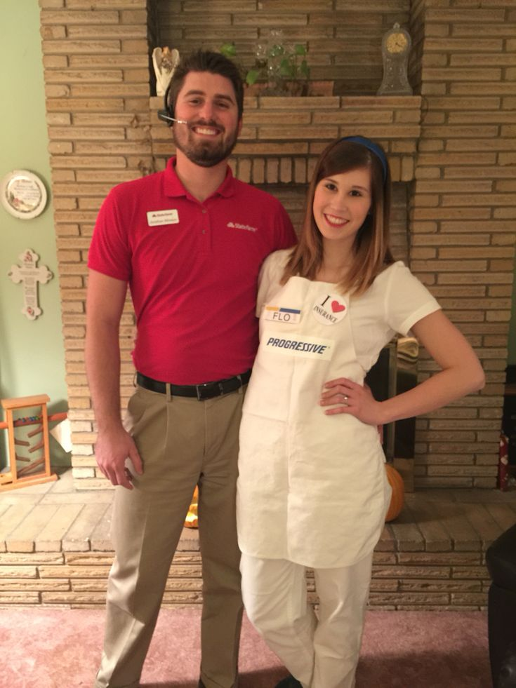 Couples costumes! Jake from State Farm and Flo from Progressive! (halloween college party)