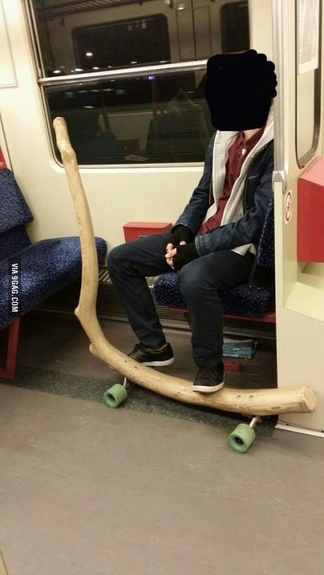 Saw this guy today at the subway. Great longboard.